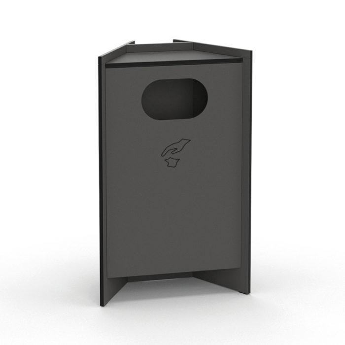 Recycling Modul der hygn.me Station 1 in anthrazit zum Entsorgen gebrauchter Produkte