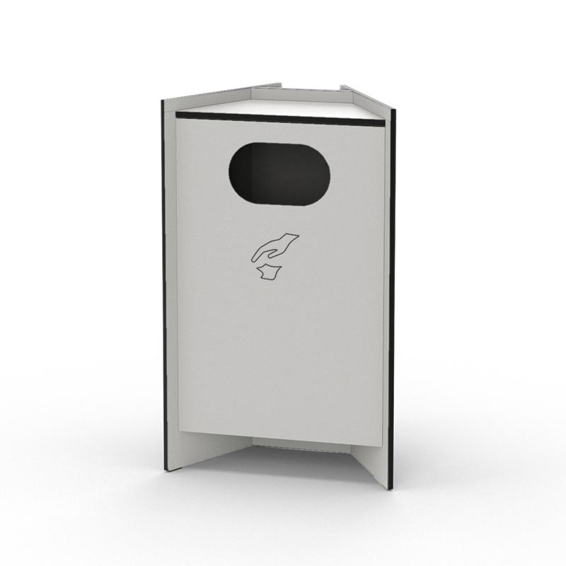 Recycling Modul der hygn.me Station 1 in weiß zum Entsorgen gebrauchter Produkte