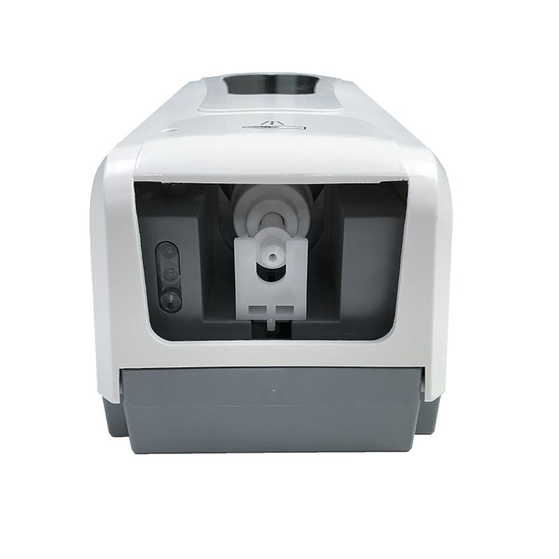 Hygiene PRO SM automatischer Desinfektionsmittelspender mit Infrarot Sensor zur berührungslosen Ausgabe des Desinfektionsmittels, erhältlich mit Spraypumpe und Tropfpumpe, Ansicht von unten