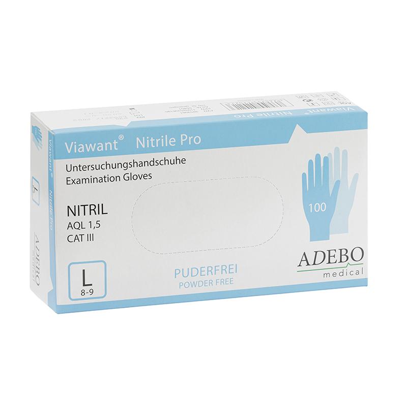 Viawant Nitrile Pro EinmalnHandschuhe aus Nitril in Größe L. Beidhändig verwendbar, latexfrei, erhöhte Reißfestigkeit