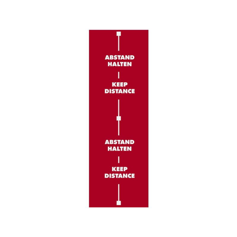 safe2be Abstandsteppich rot lang